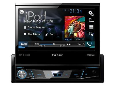 Pioneer AVH-X7700BT flip out car stereo review