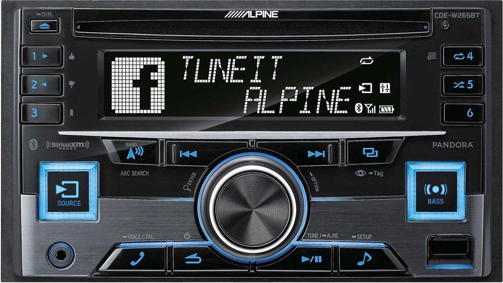Alpine CDE-W265BT Double DIN Headunit