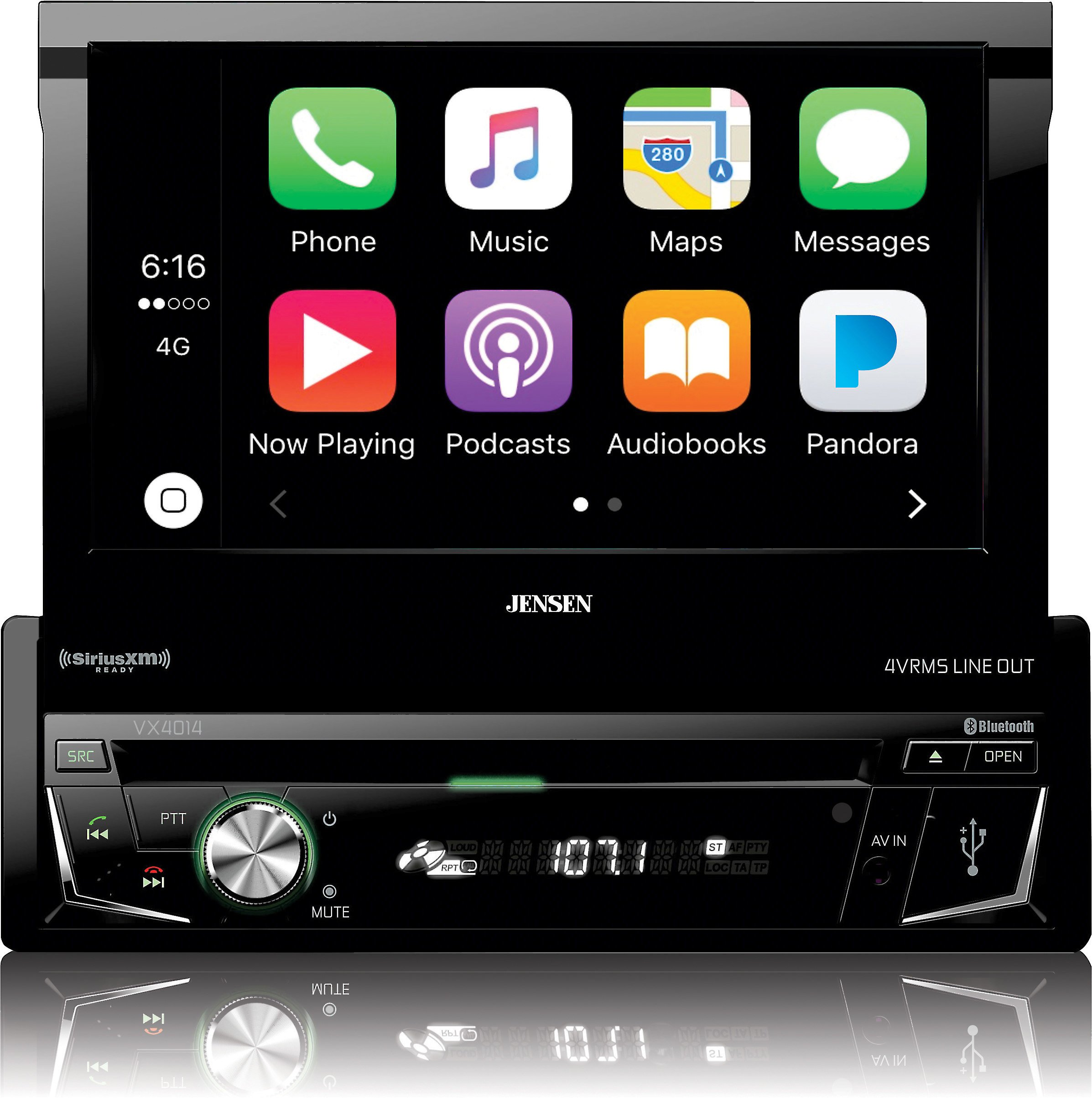 Jensen VX4014 Single DIN Flip Out Headunit