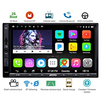 ATOTO A6 Double Din Android Car Navigation Stereo with Dual Bluetooth
